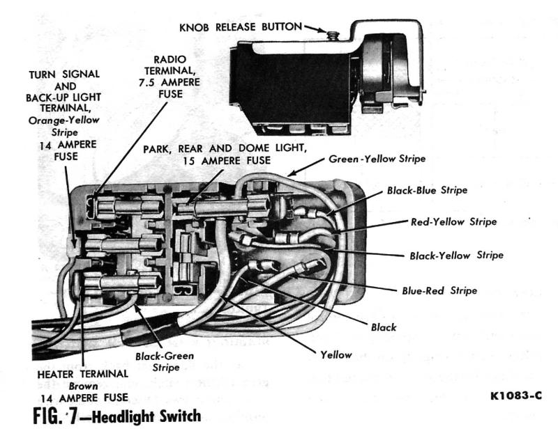 1966 Mustang Headlight Switch Wiring Diagram - WIRE Center •