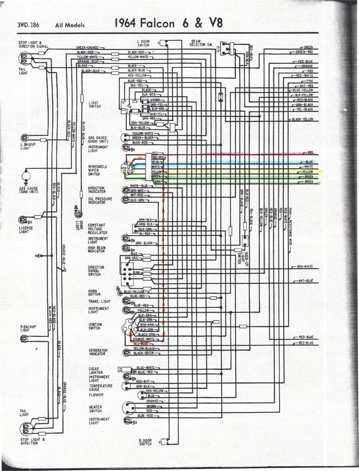 falcon diagrams rh wiring wizard com 1964 falcon wiring diagram free 1965 falcon wiring diagrams windshield wipers
