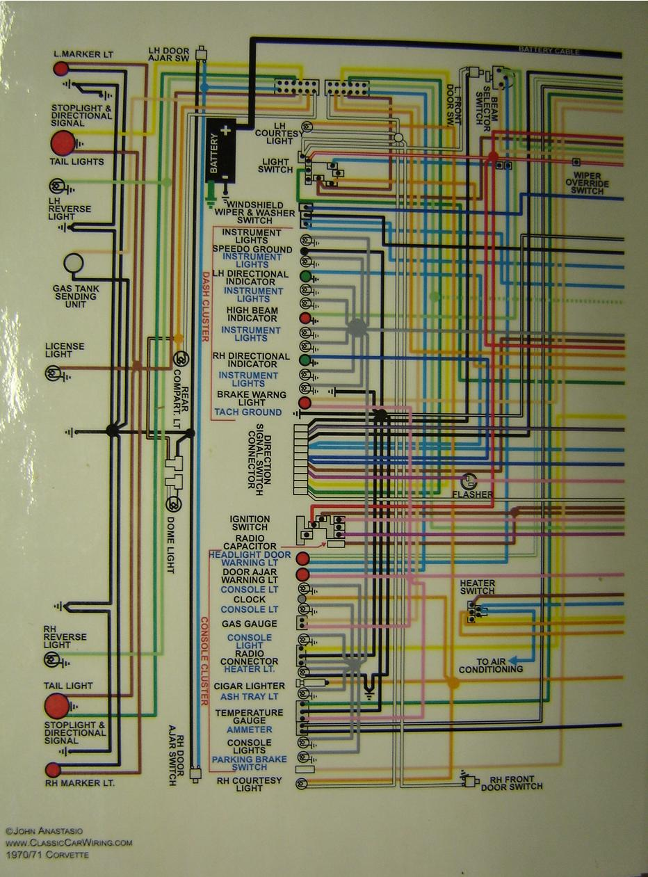 Corvette Color Wiring Diagram A on 69 Corvette Wiring Diagram