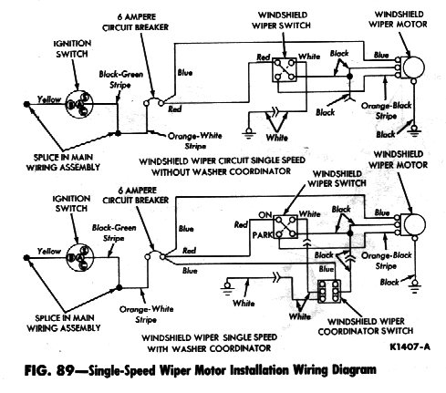 Singlespeedwiperwiringdiagram on ford ranchero wiper motor diagram