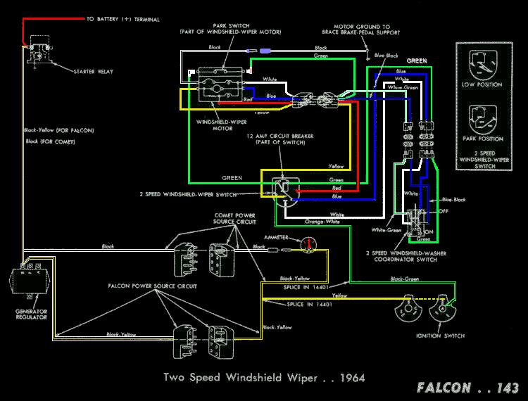 falcon diagrams 1963 falcon wiring diagram 1963 ford falcon wiper motor wiring diagram